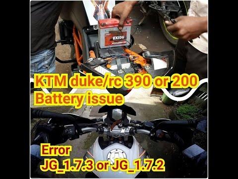 KTM duke/rc 390 or 200 Battery issue | Error JG_1.7.3