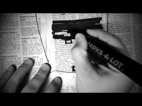 How To Make A Newspaper Blackout Poem
