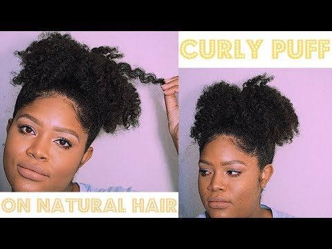 Curly Puff On Natural Hair!