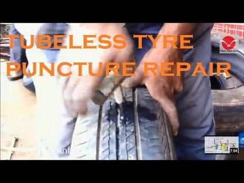 How to repair a tube less tyre puncture in 30 seconds. ✔