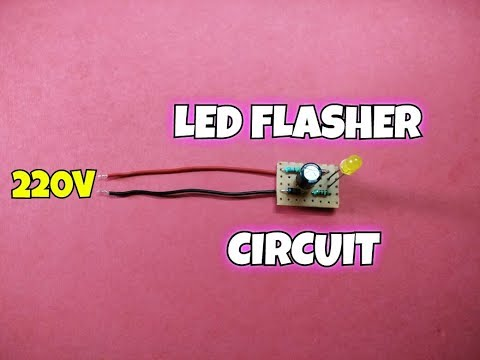 220 Volt LED Flasher Circuit...220 Volt LED Blinking Circuit...Simple Circuit..