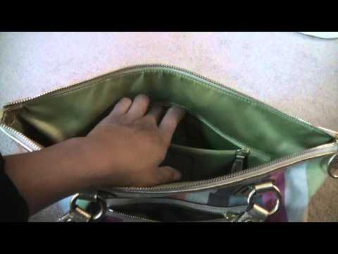 Coach poppy Legacy Stripe Glam sequin tote hobo bag
