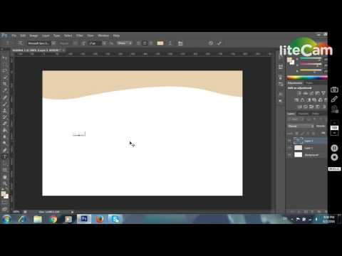 How to make a curve header for website with photoshop cs6