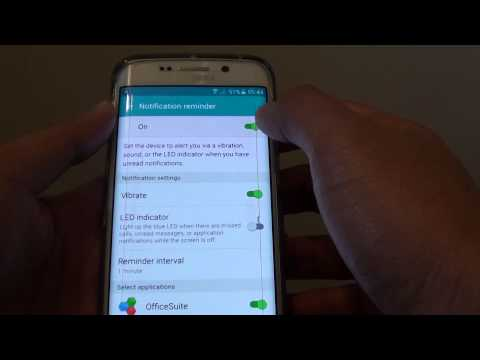 Samsung Galaxy S6 Edge: How to Turn Repeat Notification Alert On / Off