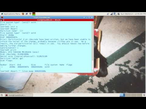 Linux: Convert MSDOS partition table to GPT w/o data loss!