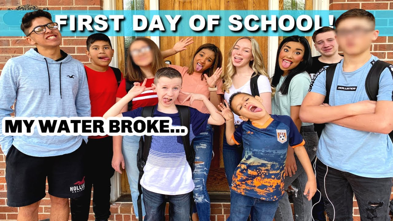 FIRST DAY OF SCHOOL | MY WATER BROKE! | BACK TO SCHOOL 2020