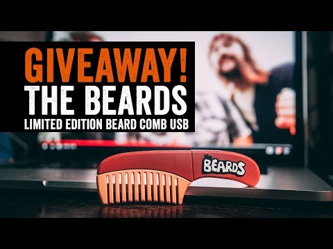 Limited edition The Beards USB comb giveaway
