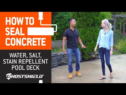 How to Seal Concrete: Water, Salt & Stain Repellent Pool Deck