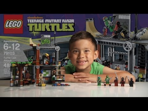 TURTLE LAIR ATTACK - LEGO Teenage Mutant Ninja Turtles Set 79103 - Time-lapse & Review