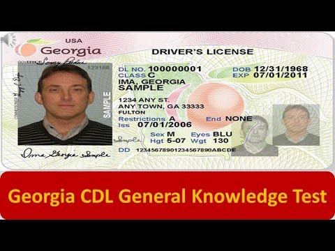 Georgia CDL General Knowledge Test