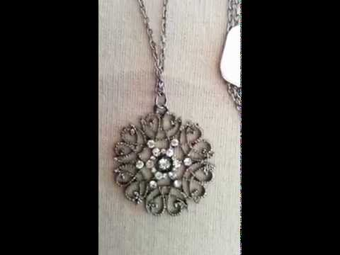 Girl's Decorative Bohemia Pattern Hollow Flower Sweater Pendant Necklaces Chain