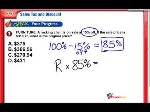Sales Tax & Discount, 7th Grade Math