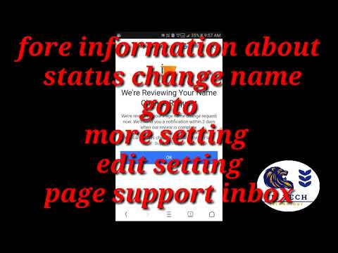 HOW TO CHANGE FACEBOOK PAGE NAME.............,,, IN  ENGLISH