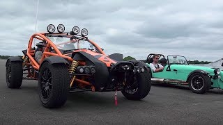 Ariel Atom 3.5 vs Ariel Nomad vs BAC Mono vs Caterham 620S - Top Gear: Drag Races