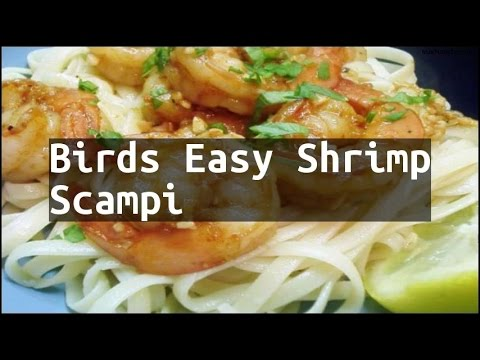 Recipe Birds Easy Shrimp Scampi