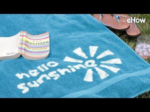 How to Easily Customize a Beach Towel with Bleach