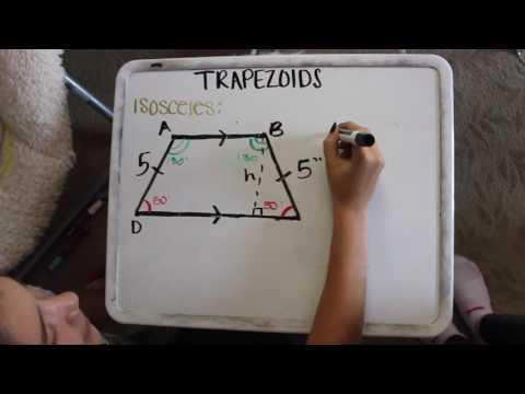 Trapezoids: isosceles, similar triangles from diagonals