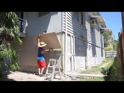 Installing Fibre Cement Siding On My Concrete Block Workshop