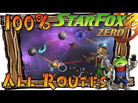 Star Fox Zero - All Alternate Routes (Paths) All Secret Levels