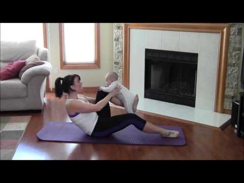 LOSE WEIGHT IN YOUR THIGHS AFTER PREGNANCY - WORKOUT WITH BABY