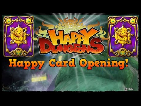 2 Legendary Items, Happy Card Opening! [Happy Dungeons]