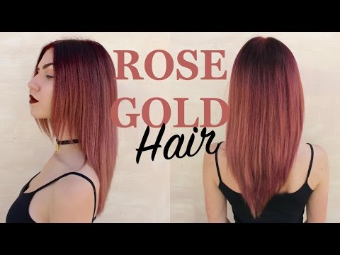 DYEING MY HAIR ROSEGOLD | Dark Maroon Roots, Light Ends | Stella