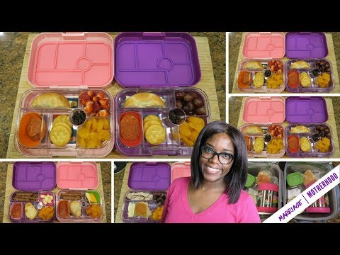 Healthy simple school lunches \ What I packed + What they ate \ Montessori Kindergarten + Preschool