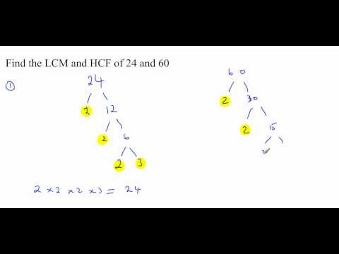 Highest Common Factor HCF Lowest Common Multiple LCM