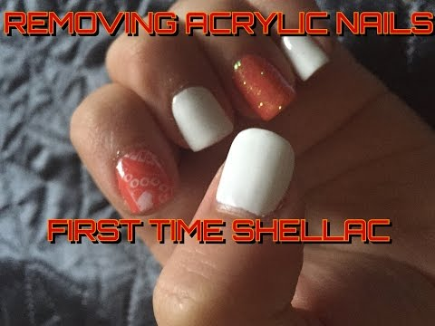 REMOVING ACRYLIC NAILS | FIRST SHELLAC
