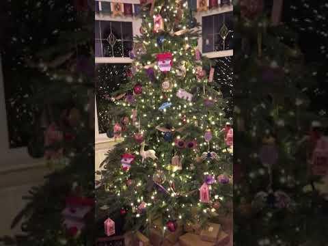 The best Harry Potter Christmas tree hogwarts hand made Xmas decorations platform 9 3/4