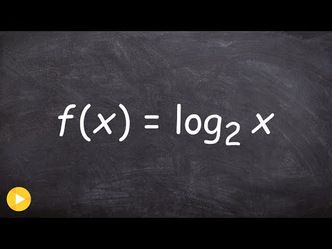 Algebra 2 - How to find the inverse of a logarithmic function, f(x) = log2 (x)