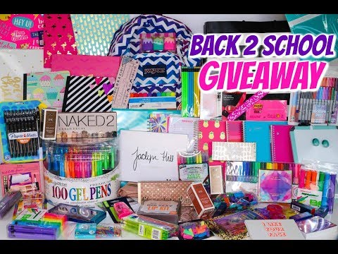 BIGGEST BACK TO SCHOOL GIVEAWAY EVER! - SCHOOL SUPPLIES, MAKEUP AND MORE!!!!  CLOSED