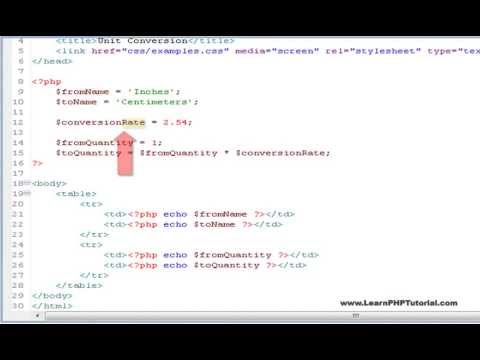 Learn PHP Tutorial Level 1, Chapter 5: Variables