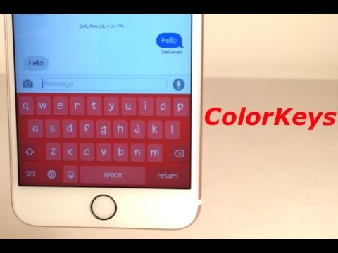 Cydia Tweak: ColorKeys - Change color of the iOS keyboard