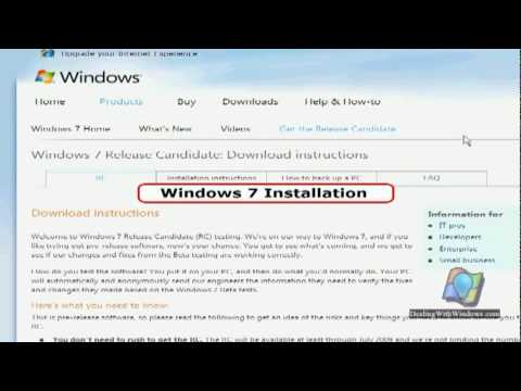 How to download Windows 7 RC ?