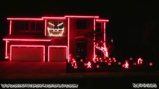 Halloween Light Show 2012 - Gangnam Style