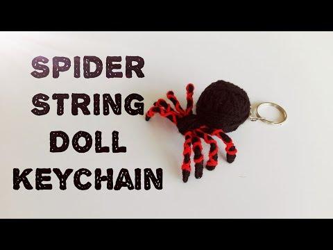 Spider String Doll Keychain