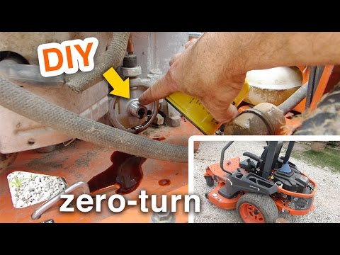 Kubota ZG Series Zero-Turn Mower - Replace Hydraulic Tank - Oil Change