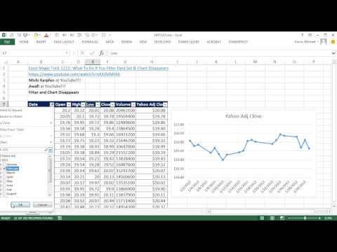 Excel Magic Trick 1215: Filter Data Set & Chart Disappears: Change Chart Properties!!!