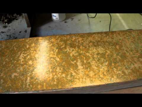 Copper sink patina using vinegar