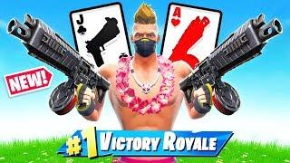 *NEW* DRUM SHOTGUN 21 Card Game in Fortnite Battle Royale