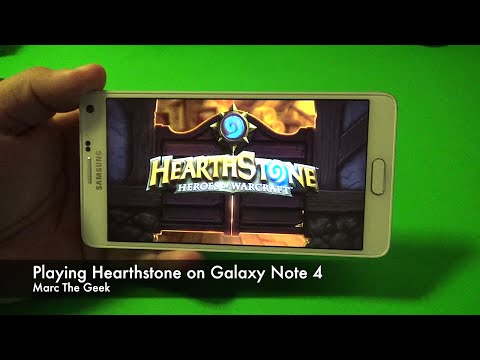Playing Hearthstone on Galaxy Note 4