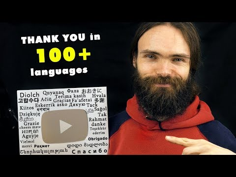 THANK YOU in 100 Different Languages (ASMR Whispers)(Special 100k subs + YouTube Play Button)