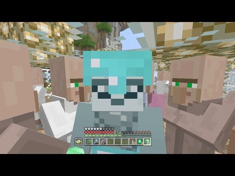 Minecraft Xbox One Survival Lets Play - Episode 70: Emerald Villager Trading!