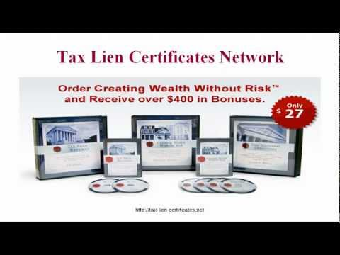 Things you should know about Tax Lien Certificates, but probably don't