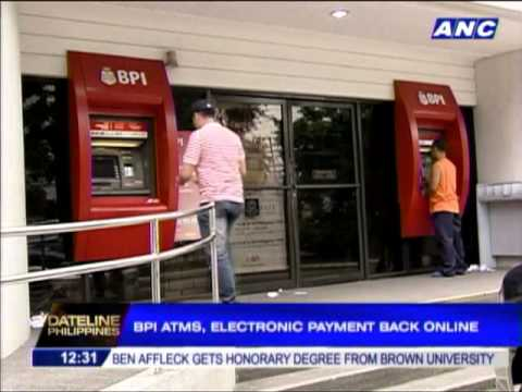 BPI ATMs, electronic payment back online