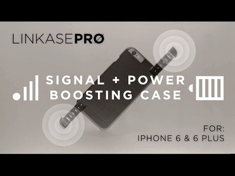 LINKASE PRØ - 3G/4G signal+power booster case for iPhone 6 & 6 Plus