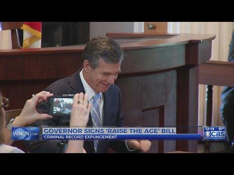 Gov. Cooper signs criminal record expungement, 'raise the age' bills