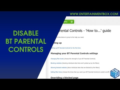 How To Disable BT Parental Controls Android