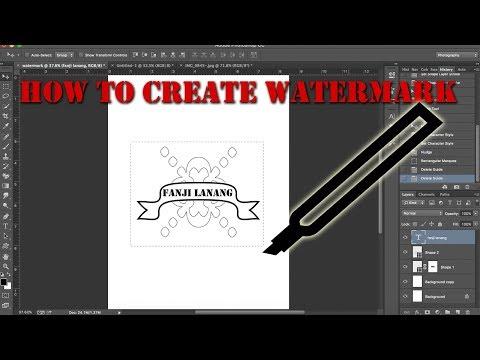 How To Create Watermark To Brush | Photoshop Tutorial